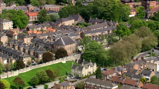 Duncombe Park  - Aerial View - England,  North Yorkshire,  Ryedale District,  United Kingdom video