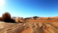 Dune landscape in the namib desert video