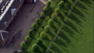 Dunham Massey Hall - Aerial View - England,  Liverpool,  helicopter filming,  aerial video,  cineflex,  establishing shot,  United Kingdom video