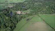 Dunham Massey Hall  - Aerial View - England,  Trafford,  helicopter filming,  aerial video,  cineflex,  establishing shot,  United Kingdom video