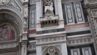 FLORENCE, ITALY - NOVEMBER 2016: Duomo, Cathedral Santa Maria del Fiore. Architectural details. 4K. video