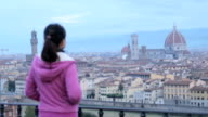 Duomo Florence cathedral landmark in Italy video