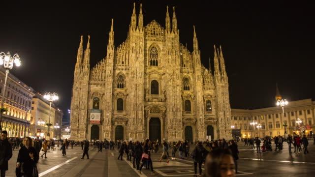 Duomo Milan City landmark building center video