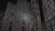 Duomo Santa Maria del Fiore in Florence at night video
