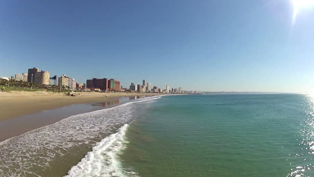 Durban Skyline with seascape - South Africa video