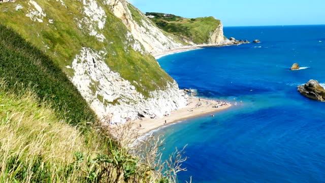 Durdle Door, Dorset in UK, Jurassic Coast World Heritage Site video