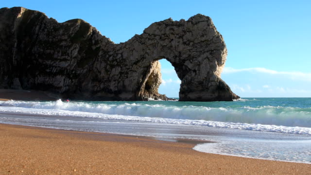 Durdle Door on the Jurassic Coast of Dorset video