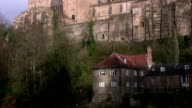 Durham mill on the river Wear and cathedral video