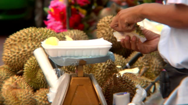 Durian Fruit Vendor video