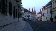 Dusk in Prague lane video
