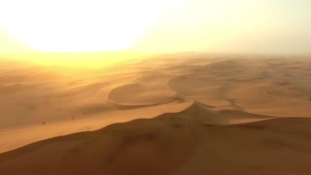 Dusk over the dunes of the Namibian Desert video