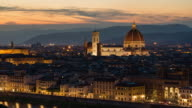 Dusk to Night Time Lapse at Florence City, Florence, Italy video