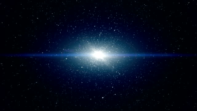 Dust particle explosion, Light ray effect. video