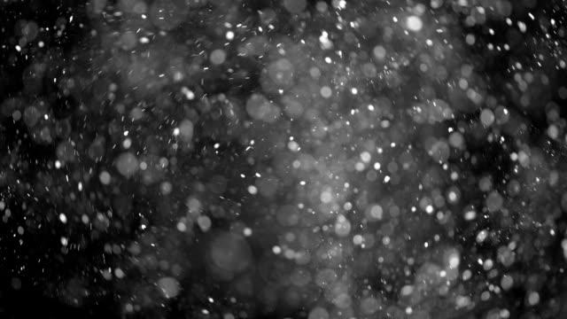 Dust Particles shot on black video