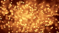Dust particles twinkling film video