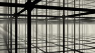 Dusty storm in metal construction video