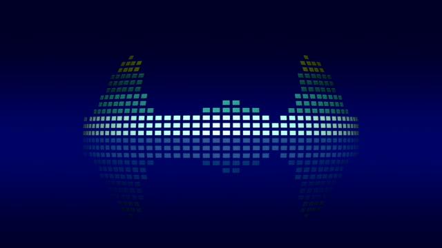 Dynamic atmospheric music VU meters. Seamless loop-able video