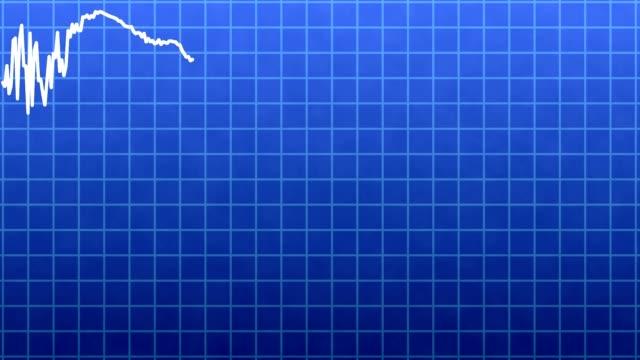 Dynamic business line chart, diagram closeup video
