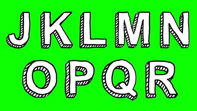 Dynamic Doodle Font video