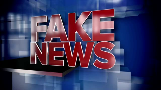 Dynamic Fake News Title Page Background Plate video