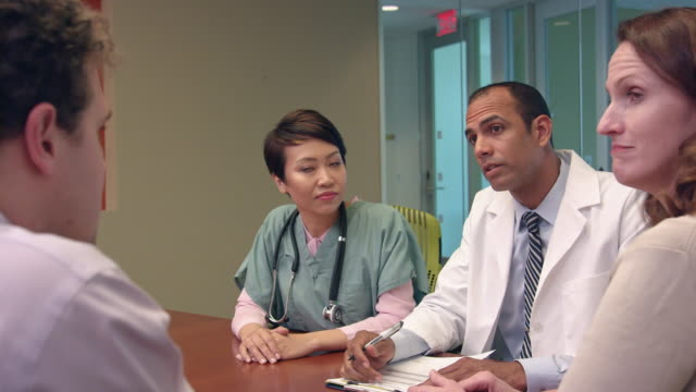 Dynamic Footage of Meeting of Medical Professionals - a video