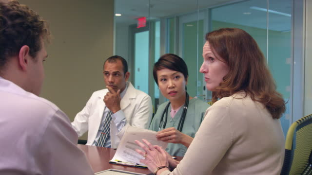 Dynamic Footage of Meeting of Medical Professionals - b video