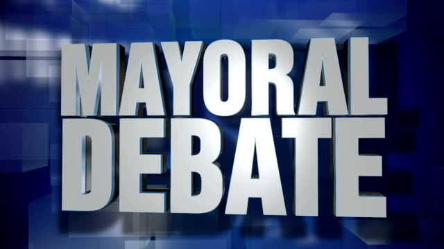 Dynamic Mayoral Debate News Transition and Title Page Background Plate video
