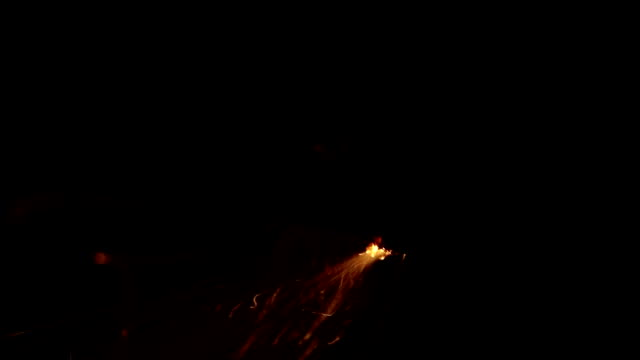 Dynamite Fuse burning on black video