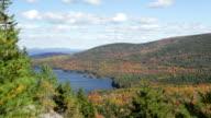Eagle Lake and Cadillac Mountain autumn (pan) video