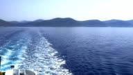 Early morning Adriatic landscape with a ferry trail video