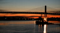 Early Morning Fraser River Tug and Barge video
