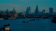 Early morning scenic view of the Thames in London, UK video
