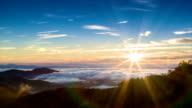 Early Morning Sun Rays at High Elevation over Appalachian Mountains video