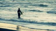 Early Morning Surfer, Ocean Beach, San Francisco, California video