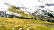 Early summer view at  Swiss Alps video