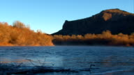 Early winter morning on the Rio Grande video