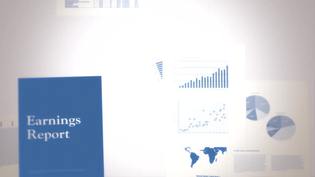 Earnings Report Concept Seamless Background Loop video