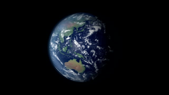 Earth 360 rotation and zoom centered on mainland USA video