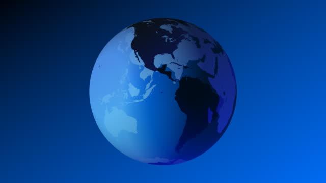 Earth 3D Blue Globe video