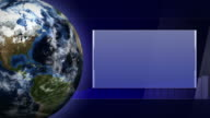 Earth and Business Technology Bars Background, Loop video