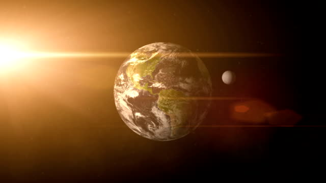 Earth and Moon video