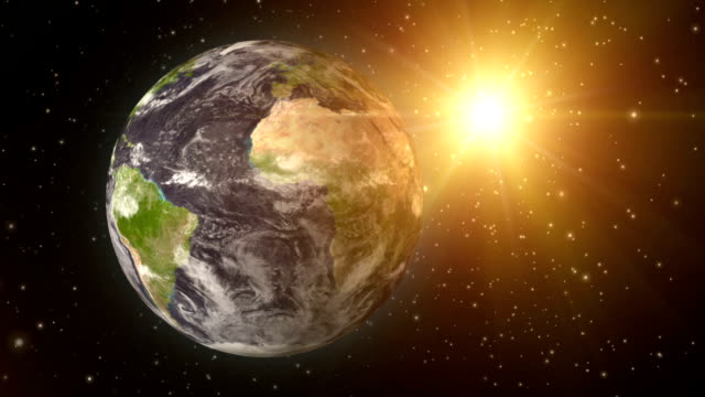 Earth and Sun video
