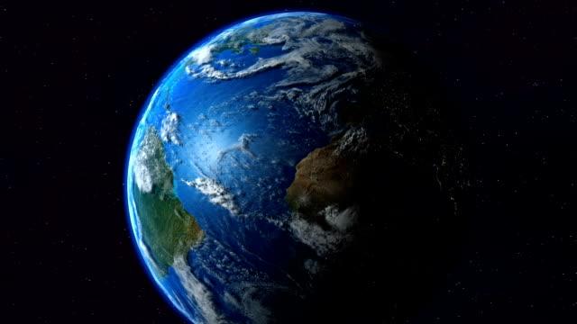 Earth Asia zoom. Tierra. video