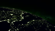 earth at night seen from space video