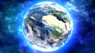 earth cg image movie loop seamless video