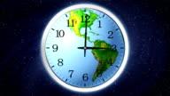 Earth clock. video
