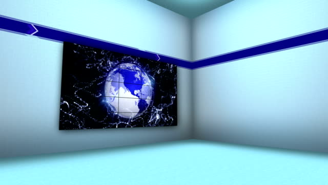 Earth Concept in Monitor and Room video