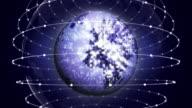 Earth Disco Ball Background Loop video