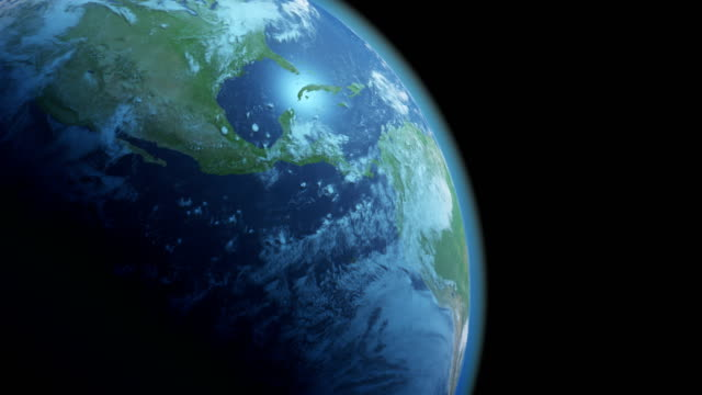 Earth Globe Isolated on Black Background video