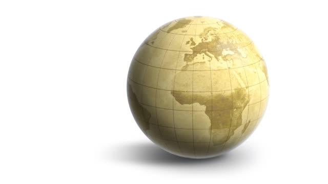 Earth Globe Map Rotation (HD 1080) video
